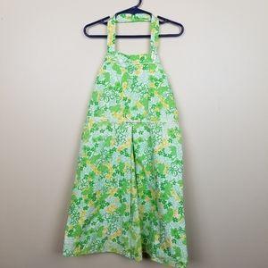 Girls Lilly Pulitzer Frog Halter Dress size 7